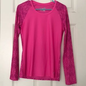 Under Armour Pink Print Long Sleeve